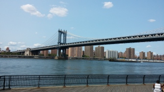 View of the Manhattan Bridge from Brooklyn Bridge Park, Dumbo